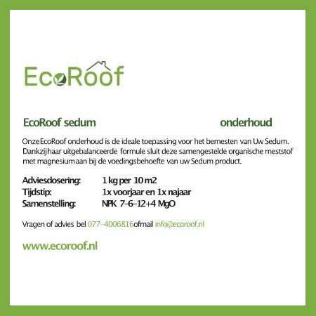 EcoRoof sedum onderhoud 10 kg